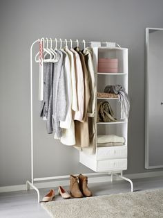MULIG kledingrek   IKEA IKEAnl IKEAnederland inspiratie wooninspiratie interieur wooninterieur designdroom rek wit slaapkamer kinderkamer kinderslaapkamer vochtbestendig staal ophangen opberger
