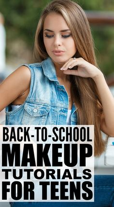 Looking for the perfect back-to-school makeup tutorial for teens to give you a quick, natural look now that summer is over, another year of high school is looming ahead of you, and your darn alarm clock will be waking you up at the crack of dawn 5 days a School Looks, School Make Up, Natural Makeup For Teens, Natural Makeup Looks, Natural Looks, Natural Prom Makeup, Natural Light, Make Up Tutorials, Makeup Tutorial For Beginners