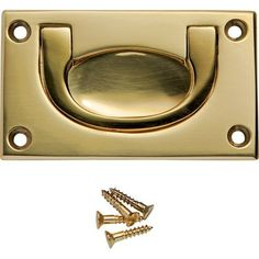 2-1/2''W x 1-1/2''H Recessed Pull, Polished Brass:Amazon:Home Improvement