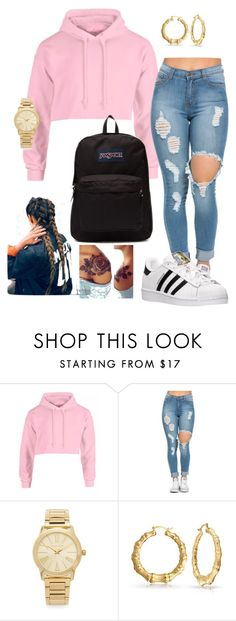 """""""I listen to Kehlani"""" look featuring adidas, Michael Kors, Bling Jewelry and JanSport"""