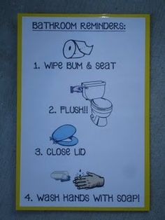 Maybe I need reminder signs like this in all my bathrooms for the boys!