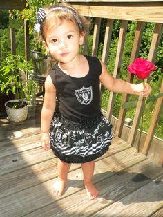 Oakland Raiders Skirt and Tank Combo by BabyThreadsByLiz on Etsy, $39.00
