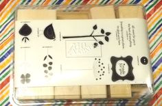 Stampin Up Rubber stamp best of Everything wood mounts tree bird flower words #StampinUp #animalsnaturewords