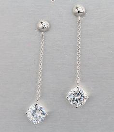 925 silver earrings, cubic zirconia stone, OEM ok, item number: BT04076