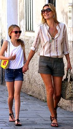 Kate Moss & her daughter