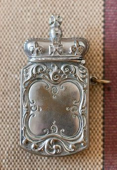 Antique Silverplate Match Holder/Striker