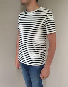 3 étoiles // t-shirt Basalte - Grain de maïs /  jersey marinière  - Lolie Shop