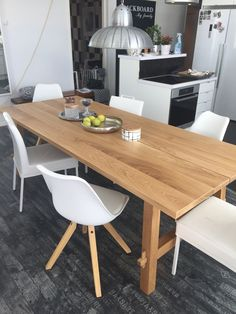 MCKELBY Table oak Solid wood Ikea table and Layering