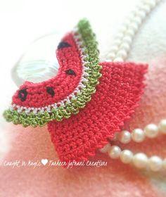 Mini watermelon dress fridge magnet ♥♥