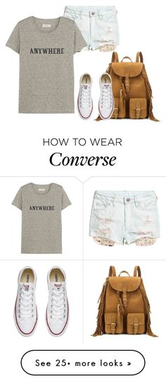 """""""Converse"""" by tina-pieterse on Polyvore featuring Yves Saint Laurent, Converse and Madewell"""