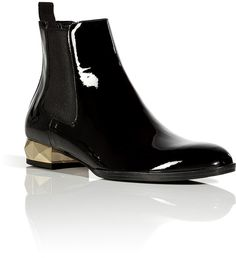 outlet store 2c96b eea1e Celebrities who wear, use, or own Valentino Black and Gold Patent Leather  Flat Ankle Boot. Also discover the movies, TV shows, and events associated  with ...
