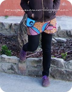 A funky wrap skirt to wear over pants or leggings. Tutorial and pattern… Sewing Patterns For Kids, Dress Sewing Patterns, Clothing Patterns, Shirt Extender, Pants Tutorial, Baby Sewing, Diy Clothes, Refashioned Clothes, Pattern Fashion