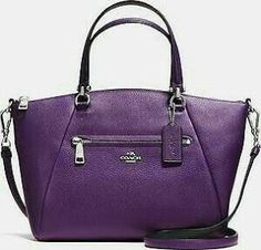 Coach Purple Leather Purse