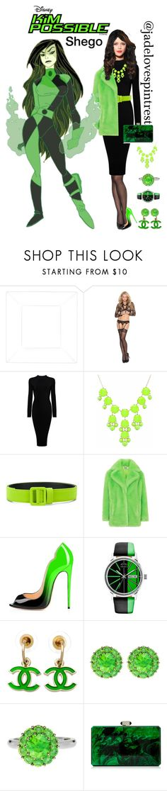 """""""Shego Style"""" by jadelovespintrest ❤ liked on Polyvore featuring Elegant Moments, Ssheena, Kenzo, Chanel, Color My Life and Judith Leiber"""