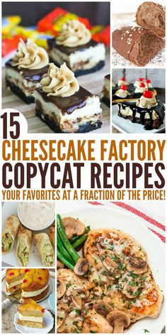 15 Cheesecake Factory Copycat Recipes That Are Almost Too Good to Eat instapot recipes dinners,recipes cooking The Cheesecake Factory, New York Cheesecake Rezept, Cheesecake Bites, Turtle Cheesecake, Strawberry Cheesecake, Chocolate Cheesecake, Pumpkin Cheesecake, Cheesecake Recipes, Cheese Cake Factory