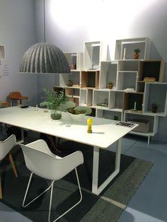 Muuto White Fiber Chair at Stockholm Furniture Fair 2015