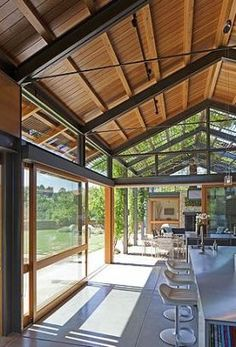 Home Architecture Plan Metal Buildings 16 Ideas Steel Frame House, Steel House, Architecture Plan, Residential Architecture, Casas Containers, Metal Buildings, Modern House Design, Modern Wooden House, Future House