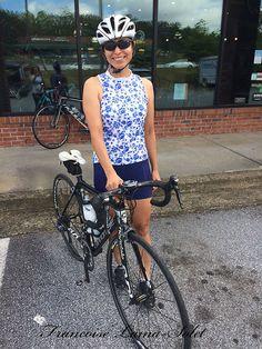 Cyclisme féminin jersey chemise à fleurs par FashionByFrancoise