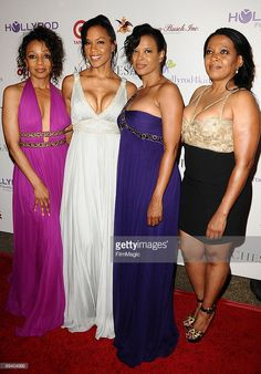 Members of the musical group En Vogue Terry Ellis, Cindy Herron, Dawn Robinson and Maxine Jones attend the HollyRod Foundation's 2009 DesignCare event on July 2009 in Los Angeles, California. Soul Singers, Female Singers, Popular Music Artists, New Jack Swing, Hip Hop, Legendary Singers, Vintage Black Glamour, July 25, My Black Is Beautiful