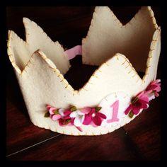 Floral Felt Birthday Crown. $32.00, via Etsy.
