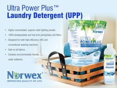Norwex Ultra Power Plus™ Laundry Detergent (UPP)  •Highly concentrated, superior stain fighting powder. •100% biodegradable and free from phosphates and fillers. •Designed for both high-efficiency (HE) and conventional washing machines. •Safe on all fabrics. •Contains environmentally friendly water softeners www.norwex.com