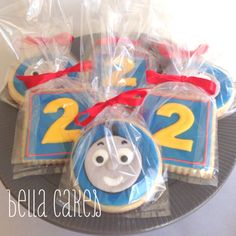 Thomas the Train cookie favors Bella Cakes