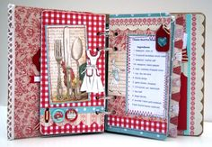 This art that makes me happy: Vintage Recipe book. now to find paper for what I want do ! Scrapbooking Album, Mini Scrapbook Albums, Scrapbook Cards, Family Recipe Book, Recipe Books, Family Recipes, Mini Albums, Scrapbook Recipe Book, Recipe Binders
