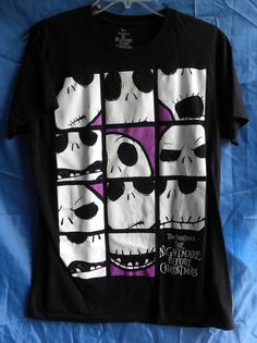 Disney Tim Burton's Nightmare Before Christmas Jack Skellington T-shirt Large