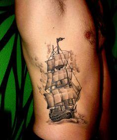 Ribs Tattoo Ship tattoo