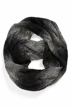 David & Young Ombré Pointelle Infinity Scarf (Juniors) | Nordstrom