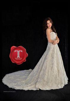 Wedding dress by Tranoulis Haute Couture Photo: Thomas Giannakis Model: Eirini Sterianou Girls Dresses, Flower Girl Dresses, Wedding Dresses, Model, Fashion, Haute Couture, Mathematical Model, Moda, Dresses For Girls