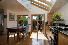 Sun filled kitchen from an extension in Twickenham http://www.architect-yourhome.com/