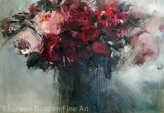 Modern Velvet by Sharleen Boaden Oil ~ x Creepy Art, Abstract Flowers, Flower Art, Velvet, Flower Paintings, Fine Art, Contemporary, Florals, Art Ideas