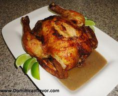 Dominican style Whole Roasted Chicken/Pollo Horneado Entero Dominicano | Delicious Dominican Cuisine