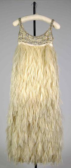 Evening dress Shannon Rodgers Date: ca. 1967 Culture: American Medium: Silk, feathers, beads, rhinestones