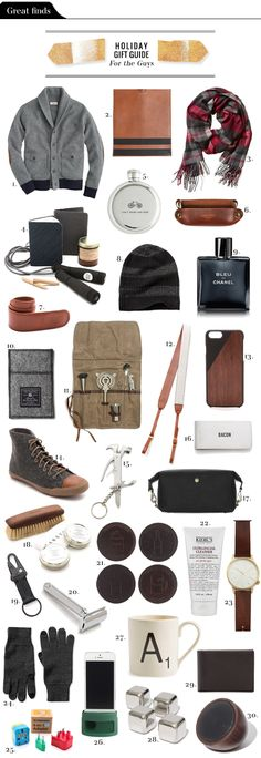 Heres a list of ideas for the guys in your life, whether youre looking for a gift for your...