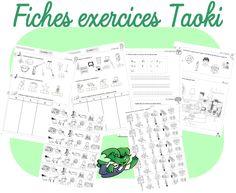 Mise à jour des fiches d'exercices de Taoki - Dans ma trousse, il y a...