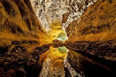 Un tubo volcánico de más de seis kilómetros en Canarias