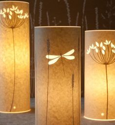 Take a look at these beautiful table lamp designs by Hannah Nunn. The lamps are made of parchment or wax paper and although Hannah uses a laser to cut out the designs on each lamp, you can use a craft cutter. 30th Birthday Ideas For Women, Diy Paper, Paper Crafts, Licht Box, Paper Lanterns, Paper Lamps, Bedside Lamp, Lamp Design, Design Design