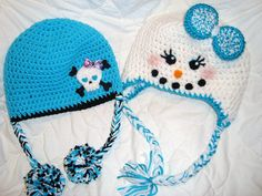 Crochet Skull & Crossbones Beanie & SnowGirl Beanie Hat - Etsy Picture idea