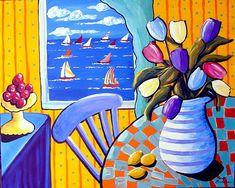 Tulips and Sailboats - by Renie Britenbucher