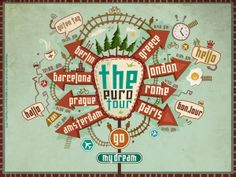 The Euro Tour by omnia ali amer, via Behance