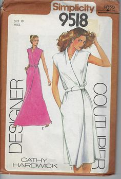 Vintage Simplicity Sewing Pattern 9518 Cathy Hardwick Wrap Skirt Dress Size 10  Uncut 1970s $12.00 Purchase here: https://goo.gl/tXrLyr #champagnvintagechic #sewing patterns #voguepattern #americandesigner #parisvoguepattern #simplicitypattern #mccallspattern #mailorderpattern #butterickpattern #advancepattern #dress #size #pants #top #skirt #suit