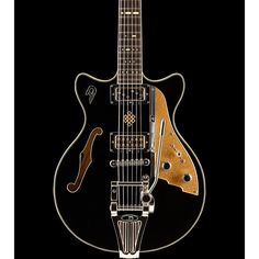 Duesenberg USA Alliance Joe Walsh Semi-Hollow Electric Guitar Black