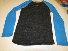 Hurley Men's Long Sleeve t shirt tee L Basic Raglan Premium Fit mtssbscm BLPB #Hurley #tshirt