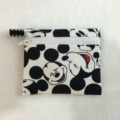 Faces of Mickey Mouse Coin Purse, Earbud,  Credit Card, Music Player Holder by NancyPKdesigns on Etsy