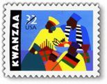 1st Kwanzaa US postage stamp in 1997