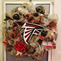 A personal favorite from my Etsy shop https://www.etsy.com/listing/503772929/large-burlap-atlanta-falcons-wreath