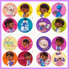 DISNEY DOC MCSTUFFINS X10 CHARACTER PARTY BAG FILLER CHOCOLATE WHITE OR MILK