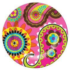 Get some fun, reusable, melamine plates like this one from French Bull at the start of Summer. Use them all season for parties, bbq's, fun, for $6 per dinner plate, if you must toss them for some reason, or they get ruined, you won't be crying over it.  French Bull Pink Paisley 11' Plate  www.fab.com